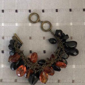 Avon Mark Drops of Rocks Black Bead Bracelet